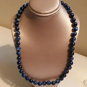 """KYANITE BEAD NECKLACE, SIZE 18-24""""L"""
